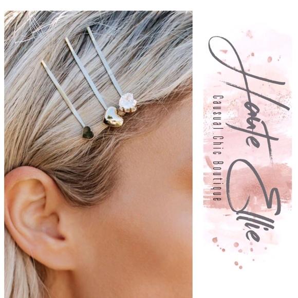 b0fb6983d3c10 Hearts Desire 3-Pack Hair Pin Set. Boutique. Haute Ellie